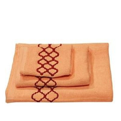 Modern Trealls 3 Piece Towel Set Color: Pink