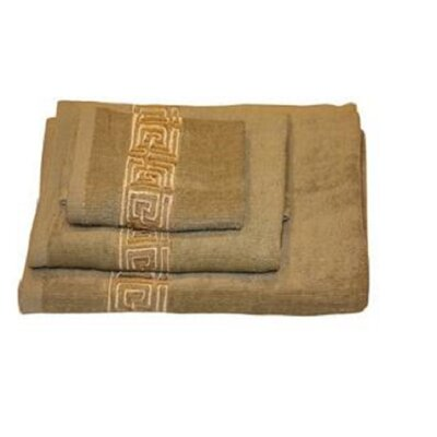 Helena Greek Key 3 Piece Towel Set Color: Sage