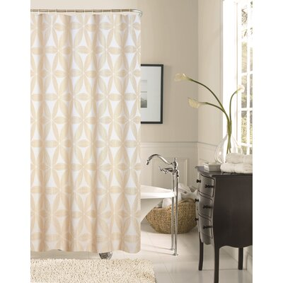 Iris Fabric Shower Curtain Color: Ivory