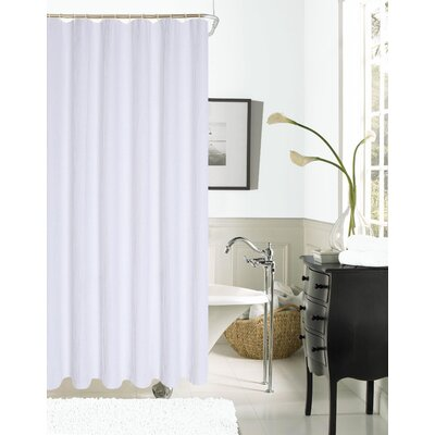 Imperial Hotel Waffle Shower Curtain Color: White