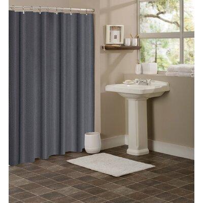Figaro Waffle Shower Curtain Color: Dark Gray