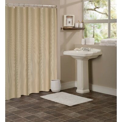 Figaro Waffle Shower Curtain Color: Mocha