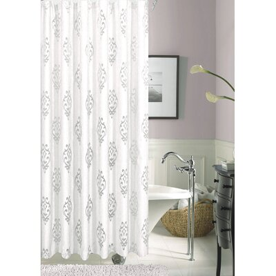 Tulip Floral Shower Curtain Color: White