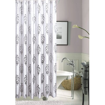 Tulip Floral Shower Curtain Color: Silver