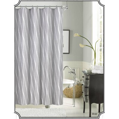 Morocco Shower Curtain Color: Silver