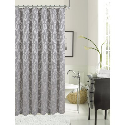 Gramercy Park Shower Curtain Color: Silver