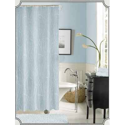 Irvin Printed Fabric Shower Curtain Color: Blue