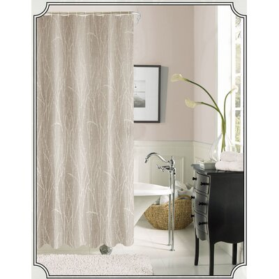 Woodbury Shower Curtain Color: Taupe