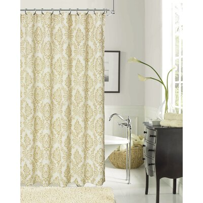 Luciana Shower Curtain Color: Gold