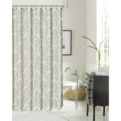 Luciana Shower Curtain Color: Silver