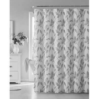 Londonshire Leaf Shower Curtain Color: Silver