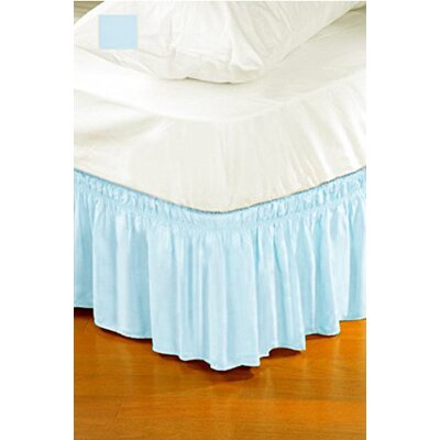 Solid Ruffle Bed Skirt Color: Blue, Size: Queen/King