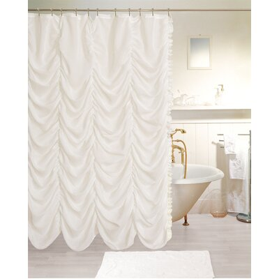 Beale Theater Shower Curtain Color: White