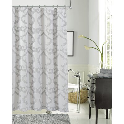Luxembourg Shower Curtain Color: Silver