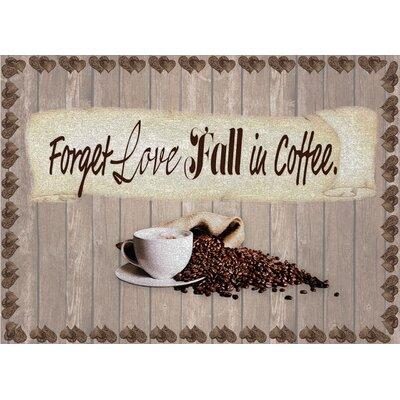 Coffee Fall in Love Foam Placemat 4FILFPBR