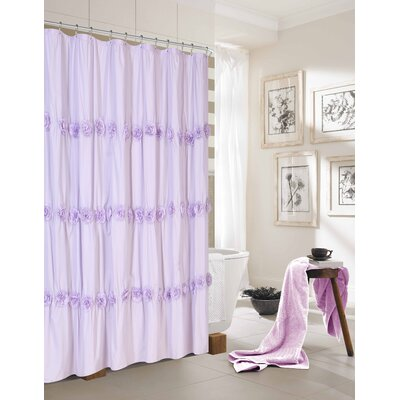 Rosette Shower Curtain Color: Purple