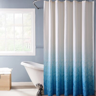 Beall Lace Ombre Shower Curtain Color: Blue