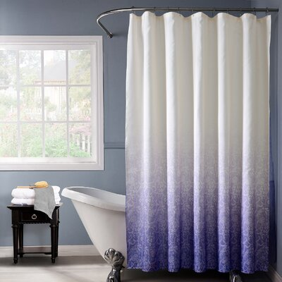 Beall Lace Ombre Shower Curtain Color: Purple