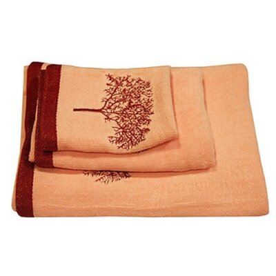 Regalia 3 Piece Towel Set Color: Coffee