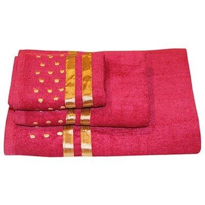 Darla Polka Dots 3 Piece Towel Set Color: Burgundy