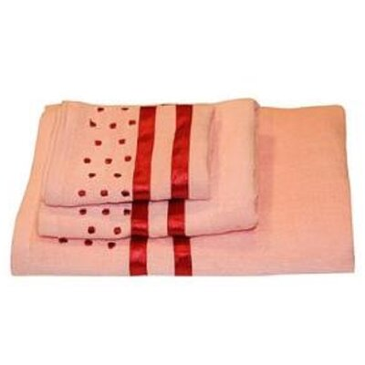 Darla Polka Dots 3 Piece Towel Set Color: Pink