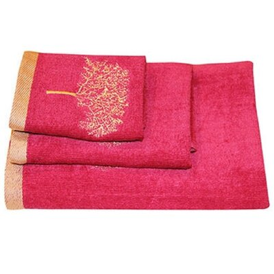 Arbor 3 Piece Towel Set Color: Burgundy
