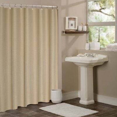 Zella Hotel Waffle Shower Curtain Color: Mocha