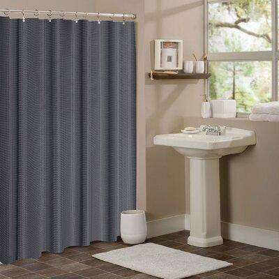 Zella Hotel Waffle Shower Curtain Color: Dark Gray