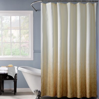 Beall Lace Ombre Shower Curtain Color: Gold