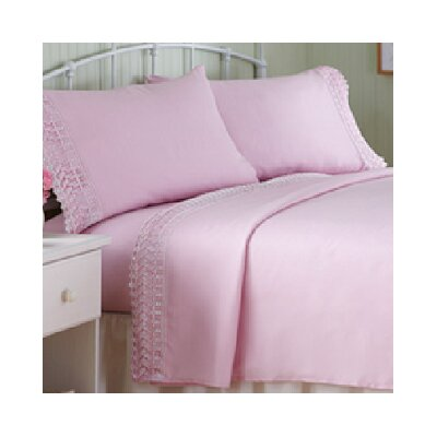 Macrame Sheet Set Size: Queen, Color: Rose