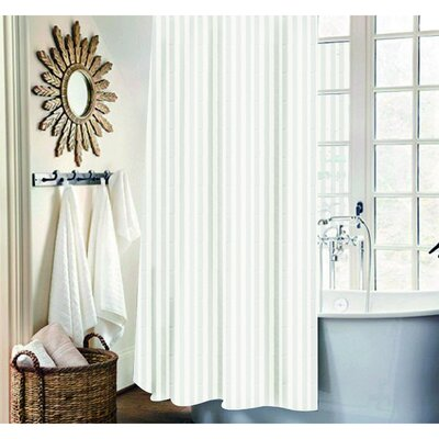 Mist 13 Piece Shower Curtain Set Color: White