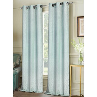 Vera Curtain Panels Color: Aqua