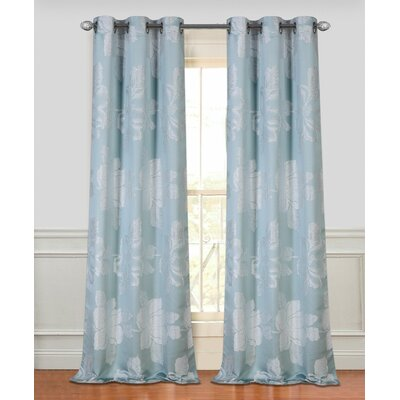 Floral Park Grommet Window Curtain Panels