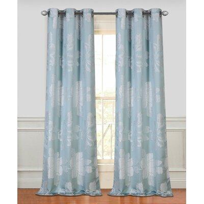 Floral Park Grommet Window Curtain Panels