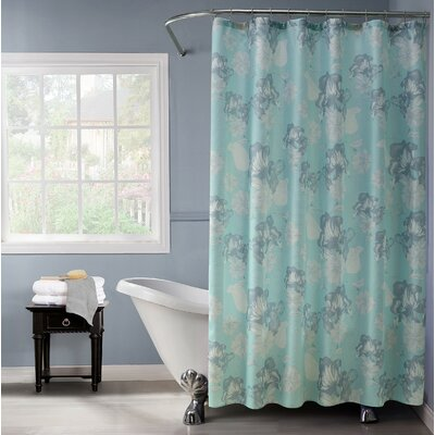 Audwin Floral Charm Fabric Shower Curtain