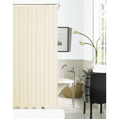 Burks Waffle Vinyl Shower Curtain Color: Ivory
