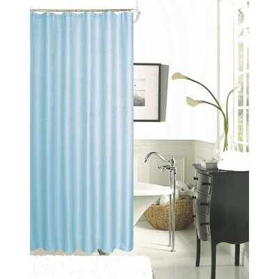 Burks Waffle Vinyl Shower Curtain Color: White