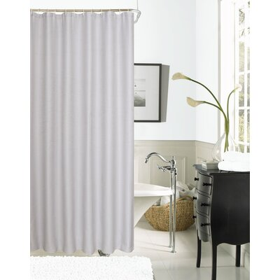 Burks Waffle Vinyl Shower Curtain Color: Silver