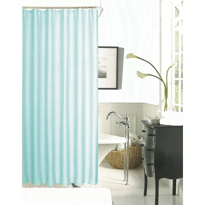 Burks Waffle Vinyl Shower Curtain Color: Mint