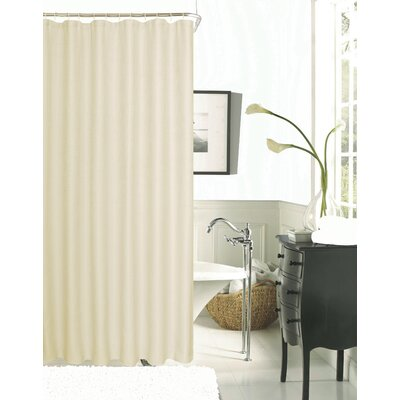 Burks Waffle Vinyl Shower Curtain Color: Peach