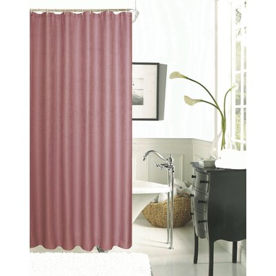 Burks Waffle Vinyl Shower Curtain Color: Blush