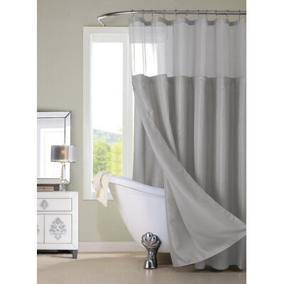Hotel Shower Curtain Color: Grey/Silver