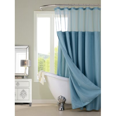 Hotel Shower Curtain Color: Aqua