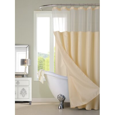 Hotel Shower Curtain Color: Ivory