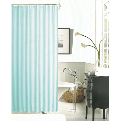 Hotel Waffle Shower Curtain Color: Mint