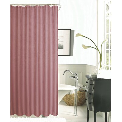 Hotel Waffle Shower Curtain Color: Blush