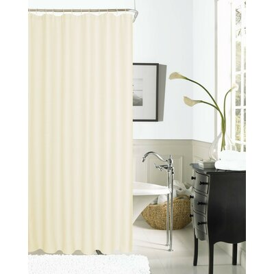 Hotel Waffle Shower Curtain Color: Ivory