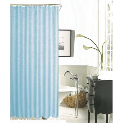 Hotel Waffle Shower Curtain Color: Aqua