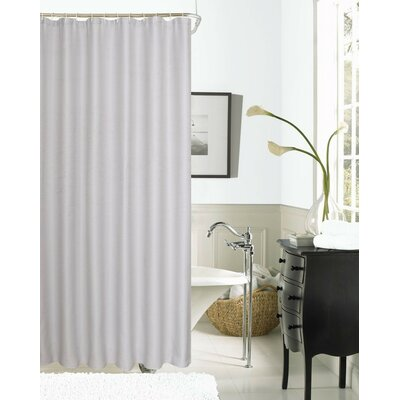 Hotel Waffle Shower Curtain Color: Silver