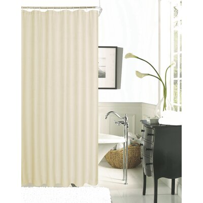 Hotel Waffle Shower Curtain Color: Peach